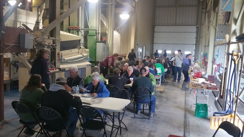 South Peace Grain Forage Crop Tour 2016 dinner on the scale